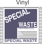 Special Waste Vinyl Labels HWL300V