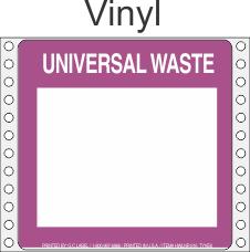 Universal Waste Vinyl Labels HWL616V