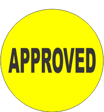 Approved Fluorescent Circle or Square Labels