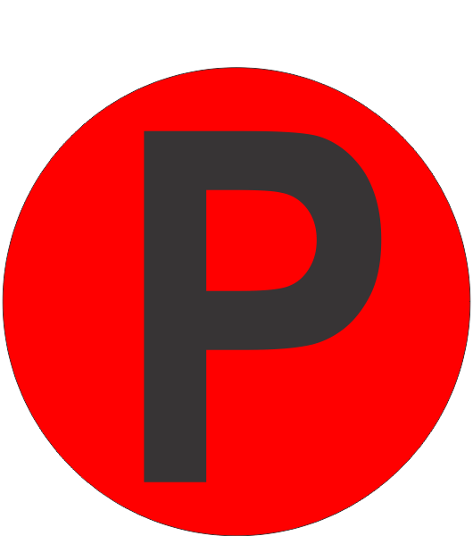 Fouroescent Circle Or Square Label Alphabetic Letter P