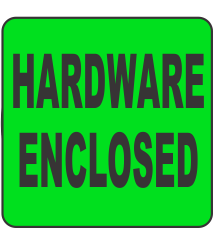 Hardware Enclosed Fluorescent Circle or Square Labels