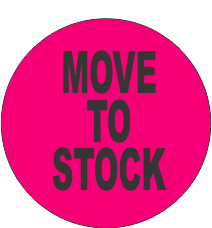Move to Stock Fluorescent Circle or Square Labels
