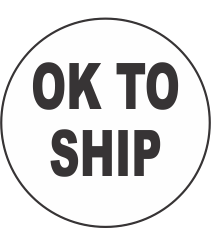 OK to Ship Fluorescent Circle or Square Labels