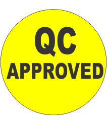 QC Approved Fluorescent Circle or Square Labels