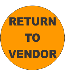 Return to Vendor Fluorescent Circle or Square Labels