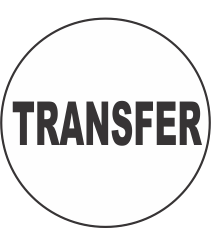 Transfer Fluorescent Circle or Square Labels