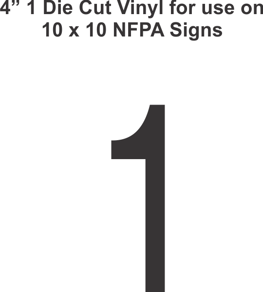 Die Cut 4in Vinyl Symbol 1 For Nfpa National Fire Prevention