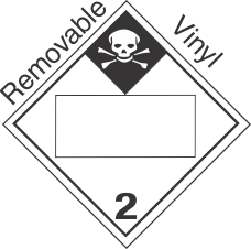 Blank Window Inhalation Hazard Class 2.3 Removable Vinyl Placard