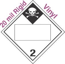 Blank Window Inhalation Hazard Class 2.3 20mil Rigid Vinyl Placard