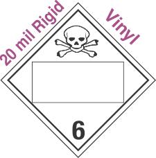 Blank Window Poison Class 6.2 20mil Rigid Vinyl Placard