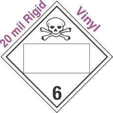 Blank Window Toxic Class 6.2 20mil Rigid Vinyl Placard