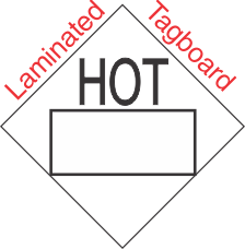 Blank Window Hot Marking Laminated Tagboard Placard