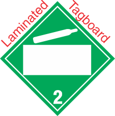 Blank Window Non Flammable Gas Class 2.2 Laminated Tagboard Placard