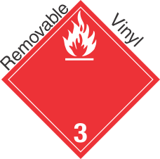 International (Wordless) Combustible Class 3 Removable Vinyl Placard