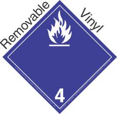 International (Wordless) Dangerous When Wet Class 4.3 Removable Vinyl Placard