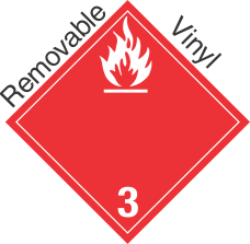 International (Wordless) Flammable Class 3 Removable Vinyl Placard