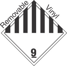 International (Wordless) Miscellaneous Dangerous Goods Class 9 Removable Vinyl Placard