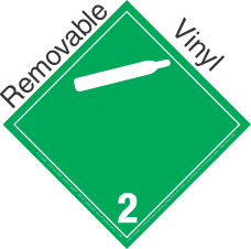 International (Wordless) Non Flammable Gas Class 2.2 Removable Vinyl Placard