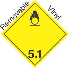 International (Wordless) Oxidizer Class 5.1 Removable Vinyl Placard
