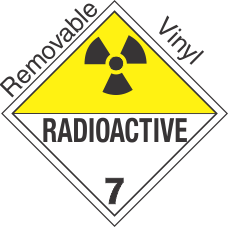 International (Wordless) Radioactive Class 7 Removable Vinyl Placard