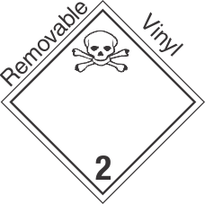 International (Wordless) Toxic Gas Class 2.3 Removable Vinyl Placard
