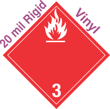 International (Wordless) Flammable Class 3 20mil Rigid Vinyl Placard