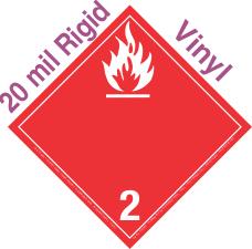 International (Wordless) Flammable Gas Class 2.2 20mil Rigid Vinyl Placard