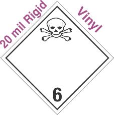 International (Wordless) Toxic Class 6.2 20mil Rigid Vinyl Placard