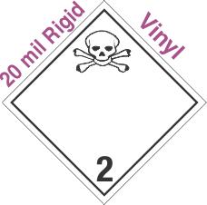 International (Wordless) Toxic Gas Class 2.3 20mil Rigid Vinyl Placard