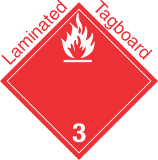 International (Wordless) Flammable Class 3 Laminated Tagboard Placard