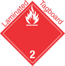 International (Wordless) Flammable Gas Class 2.2 Laminated Tagboard Placard