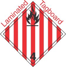 International (Wordless) Flammable Solid Class 4.1 Laminated Tagboard Placard