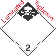 International (Wordless) Inhalation Hazard Class 2.3 Laminated Tagboard Placard