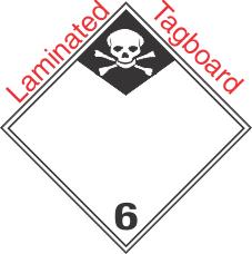 International (Wordless) Inhalation Hazard Class 6.1 Laminated Tagboard Placard