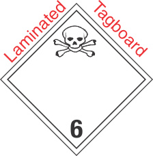 International (Wordless) Poison Class 6.2 Laminated Tagboard Placard