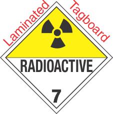 International (Wordless) Radioactive Class 7 Laminated Tagboard Placard