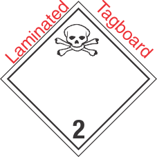International (Wordless) Toxic Gas Class 2.3 Laminated Tagboard Placard
