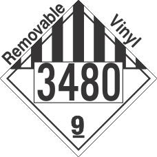 Miscellaneous Dangerous Goods Class 9 UN3480 Removable Vinyl DOT Placard