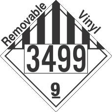 Miscellaneous Dangerous Goods Class 9 UN3499 Removable Vinyl DOT Placard