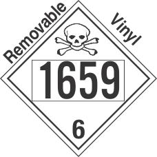 Poison Toxic Class 6.1 UN1659 Removable Vinyl DOT Placard