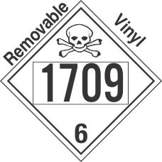 Poison Toxic Class 6.1 UN1709 Removable Vinyl DOT Placard