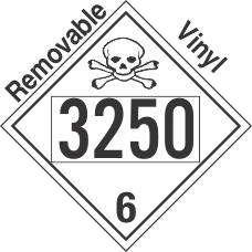 Poison Toxic Class 6.1 UN3250 Removable Vinyl DOT Placard