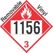 Combustible Class 3 UN1156 Removable Vinyl DOT Placard