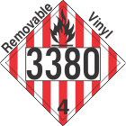 Flammable Solid Class 4.1 UN3380 Removable Vinyl DOT Placard