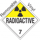 Radioactive Class 7 UN2919 Removable Vinyl DOT Placard