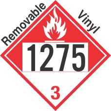 Combustible Class 3 UN1275 Removable Vinyl DOT Placard