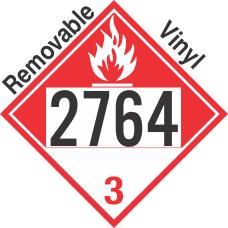 Combustible Class 3 UN2764 Removable Vinyl DOT Placard