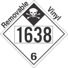Inhalation Hazard Class 6.1 UN1638 Removable Vinyl DOT Placard
