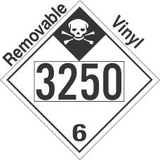 Inhalation Hazard Class 6.1 UN3250 Removable Vinyl DOT Placard