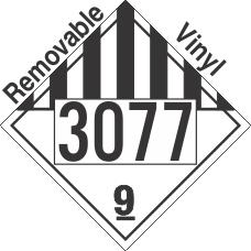 Miscellaneous Dangerous Goods Class 9 UN3077 Removable Vinyl DOT Placard
